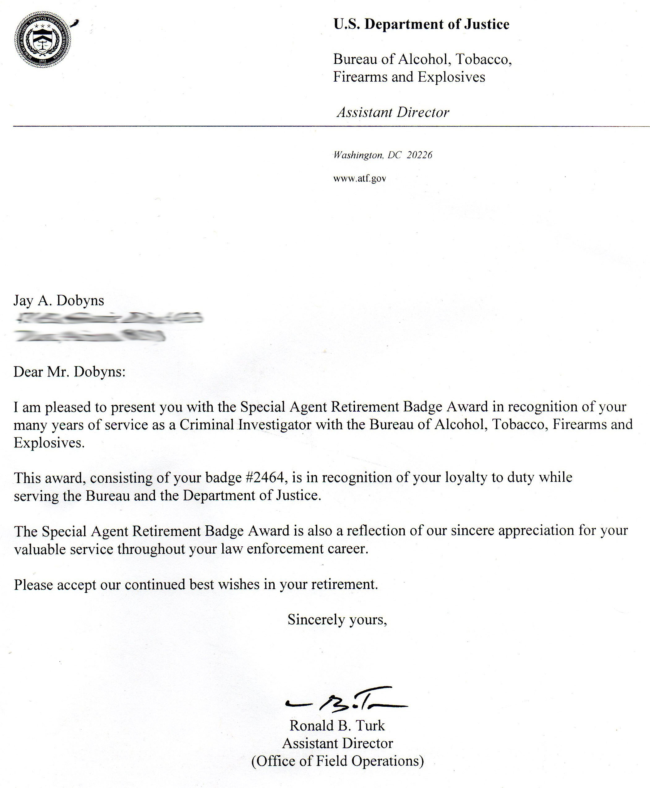 examples of retirement letters of resignation